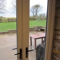 Views of, and access to the garden from the lovely French Doors.