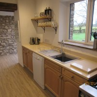 Well equipped kitchen, with quartz work tops  and commercial cooker, to cater for large groups.